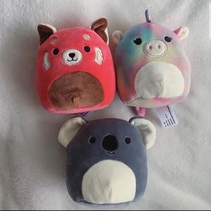 3 mini squishmallows